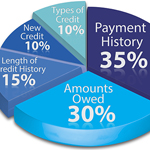 Pie Chart of loan and credits